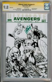 Ultimate Comics Avengers #1 CGC 9.8 Signature Series Signed Stan Lee Marvel Comic Book
